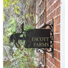 Dressage Horse Iron Bracket House Name Sign in Situ on a Wall