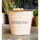 Cream Kindling Bucket