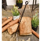 Beautiful wrought iron blacksmith pronged toasting fork