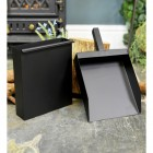 Square Ash Box and Shovel Set Finished in Black