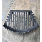 Birdseye view of curved fire grate