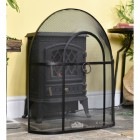 Black Arched Fire Guard With Handle