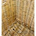 Close Up Natural Finish Wicker Log Basket