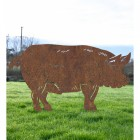 Rustic Standing Pig Silhouette