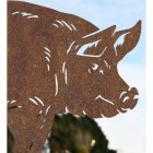 Close up of Rustic Standing Pig Silhouette