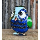 Sailor Owl Recycled Metal Ornament