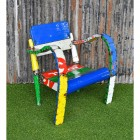 Multi Coloured recycled oil drum Chair