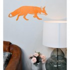 Orange Fox Wall Art in Situ in the Living Room