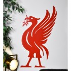 Large Red Liver Bird Wall Art