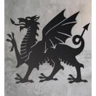 Welsh Dragon Wall Art on a Rustic Wall