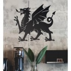 Welsh Dragon Wall Art in Situ i the Office