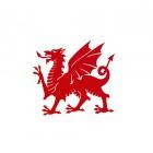 Red Welsh Dragon Wall Art - 60cm