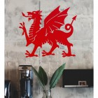 Welsh Dragon Wall Art in Situ in the Office
