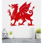 Welsh Dragon Wall Art on a White Wall