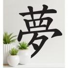 """Kanji Dream Symbol"" Wall Art in Situ Next to Plants"