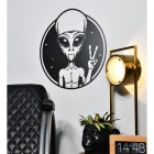 Peace Sign Alien Wall Art in the Home