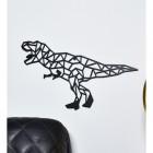 Geometric Iron T-Rex Wall Art in Situ