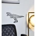 Geometric T-Rex Wall Art in Lounge Setting