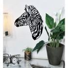 Geometric Zebra Wall Art in Living Room