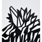 Close up of geometric Zebra wall art