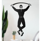 Harlequin Steel Wall Art on a White Wall