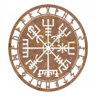 """Vegvisir"" Viking Compass Wall Art in a Rustic Finish"