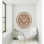 """Vegvisir"" Viking Compass Wall Art in a Modern Sitting Room"