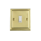 Victorian White Single Light Switch