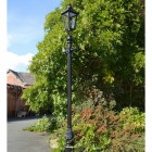 Black Victorian Lamp post 2.7m outside house