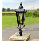 Victorian Pillar Light and Lantern Set in situ on a Brick Pillar