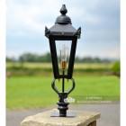 Victorian Pillar Light and Lantern Set in Situ