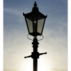 Black Victorian Lamp Post Set 3.7m