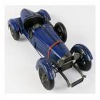 Vintage Blue Racing Car Scale Model