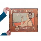 """Hadjetian Brothers"" Vintage Cigarettes Sign"