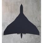 Wall mounted Black Vulcan Aircraftl Art