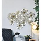 Golden Dandelion Wall Art Mounted to Wall