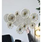 Golden Dandelion Wall Art in Full