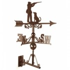 Large Game Season Weathervane in a Rustic Finish