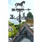 Rustic Horse Weathervane in Situ