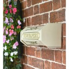Wall Mounted Antique Cream and Gold Newspaper Holder