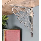 Wall mounted chrome finish shelf bracket