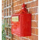 Wall Mounted Red The Suffolk Post or Parcel Box