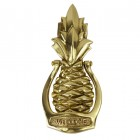 Front view of the pine apple door knocker