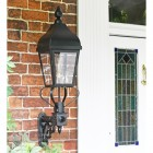 Westwell Black Simplistic Victorian Wall Light By Front Door