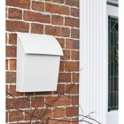 Lockable White Contemporary Post Box