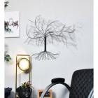 """Windswept Winter Tree"" Wall Art in a Black Finish"