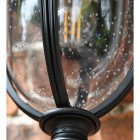 Close-up of the Seeded Glass in the Lantern