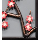 Closeup of the Pink Floral Design