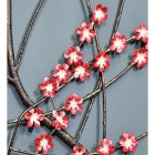 Metal Wall Art with a Pink Wintersweet Floral Design