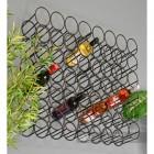 12 Bottle Black Wall Mounted Wine Rack